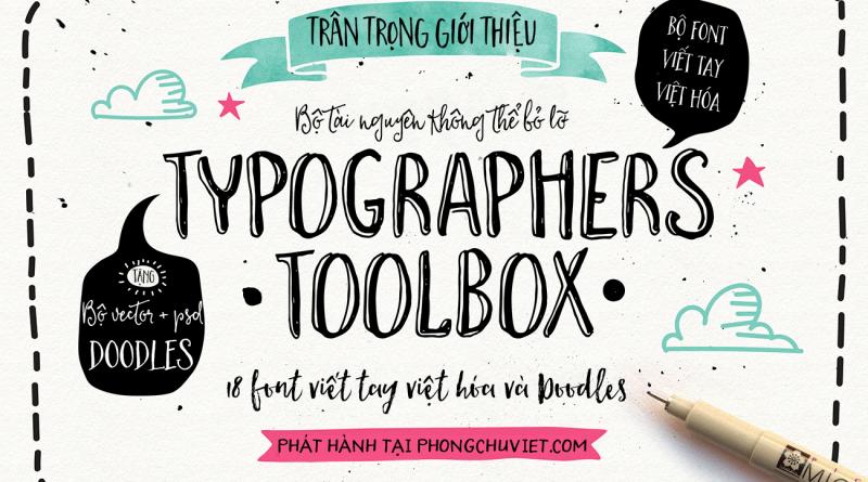 HOT! THE TYPOGRAPHER'S TOOLBOX – TRỌN BỘ VIỆT HÓA