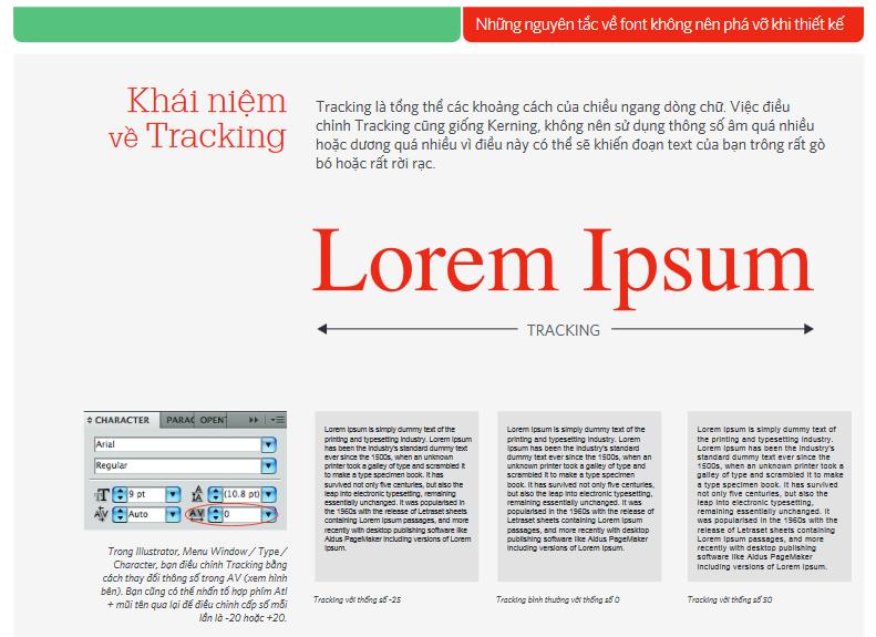 Kerning & những nguyên tắc về font không nên phá vỡ khi thiết kế