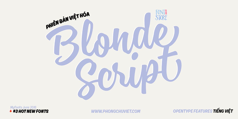 blonde script