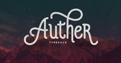 Seniors   Auther Typeface (1 font) ~ $13