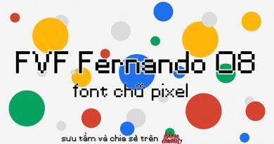 Việt hóa | FVF Fernando 08: pixel font nhỏ nhỏ xinh xinh
