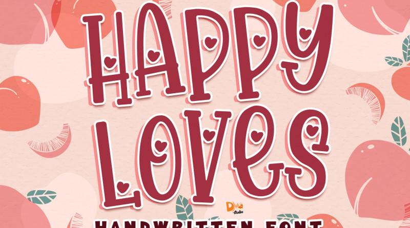 Happy Loves - Handwritten Font