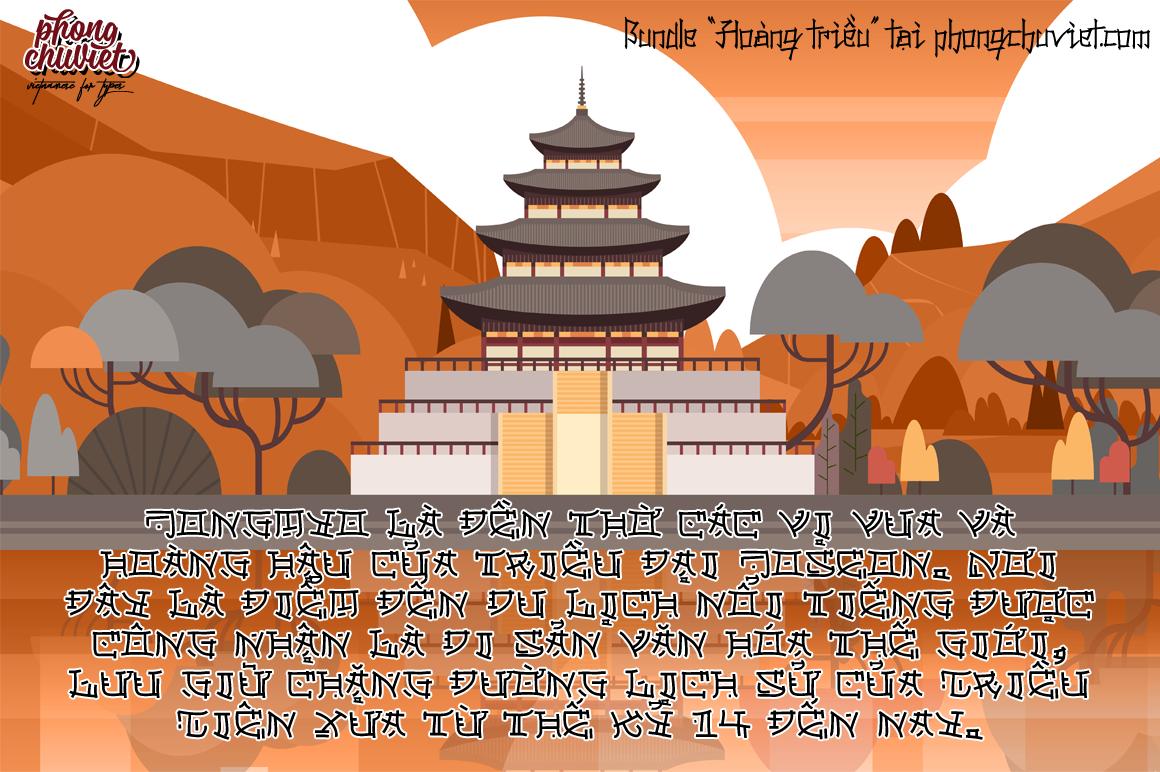 """Bundle Font """"Hoàng Triều"""": font việt hóa cổ trang!"""