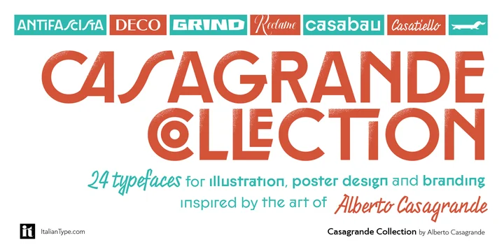 Italiantype   Casagrande Typeface ~ $189