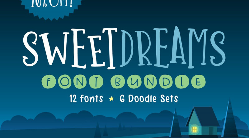 Denise Chandler   Sweet Dreams Font Bundle ~ $35