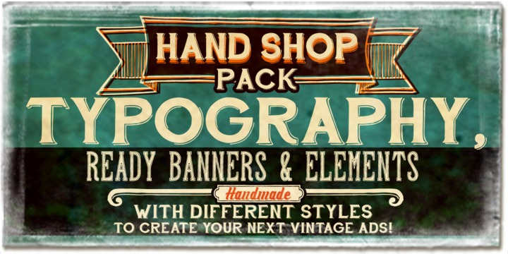 Fontscafe | Hand Shop Pack ~ $299