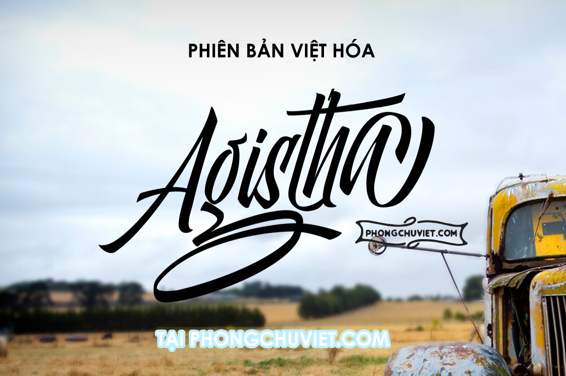 Việt hóa | FS Agistha Logotype: Typography Script ấn tượng!