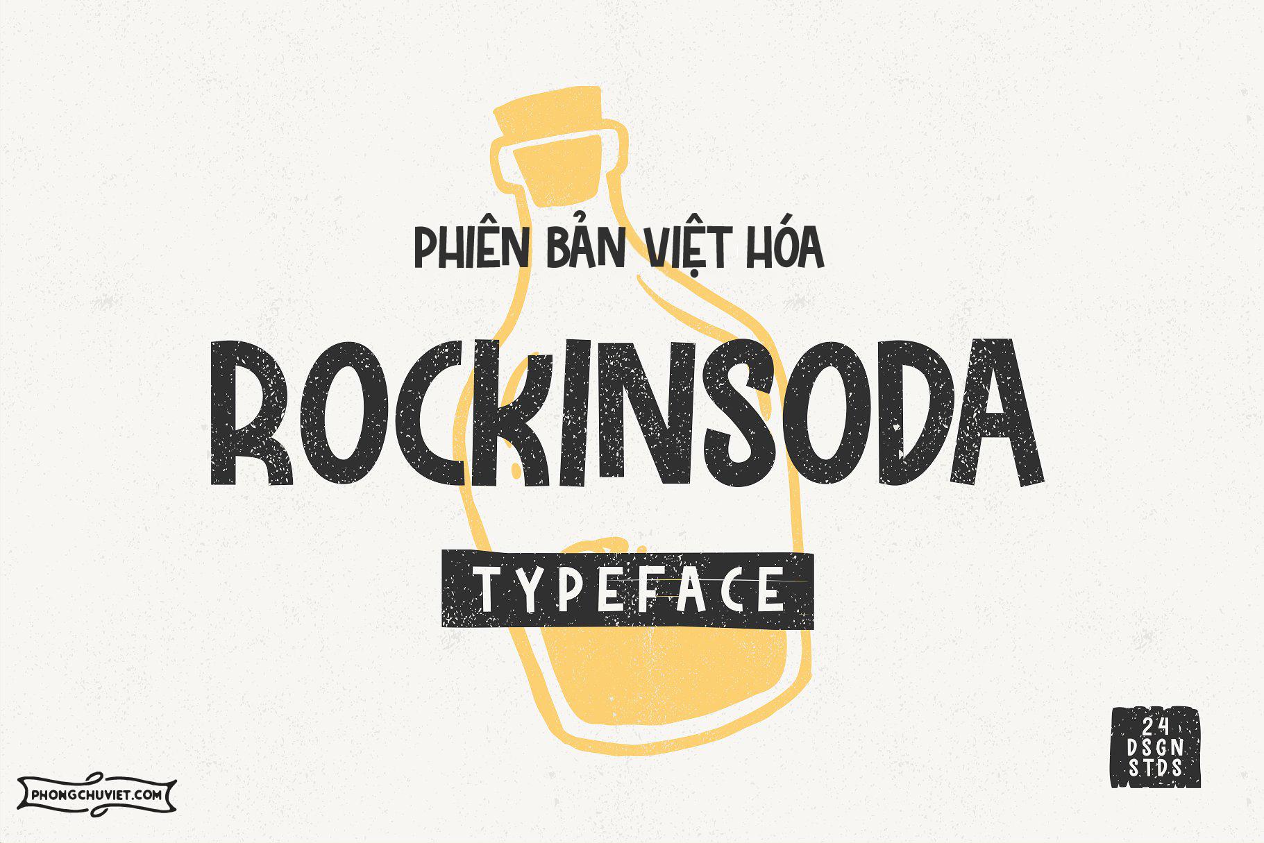 Việt hóa   FS Rockinsoda: Font viết tay trẻ em từ 24Design Studios