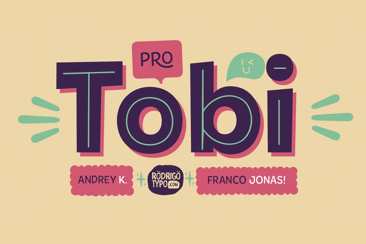 Rodrigo Typo | Tobi Pro Family (13 fonts) ~ $99