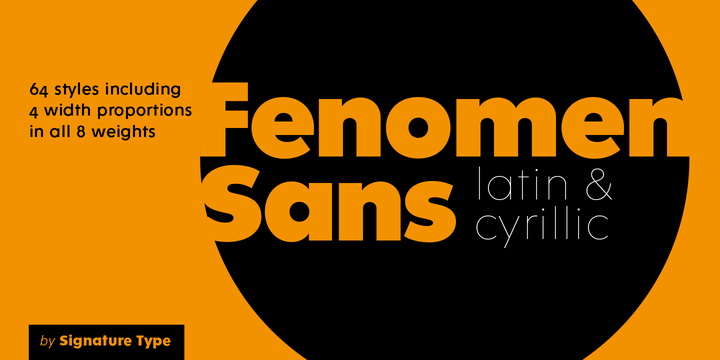 Signature Type Foundry | Fenomen Sans (64 fonts) ~ $851