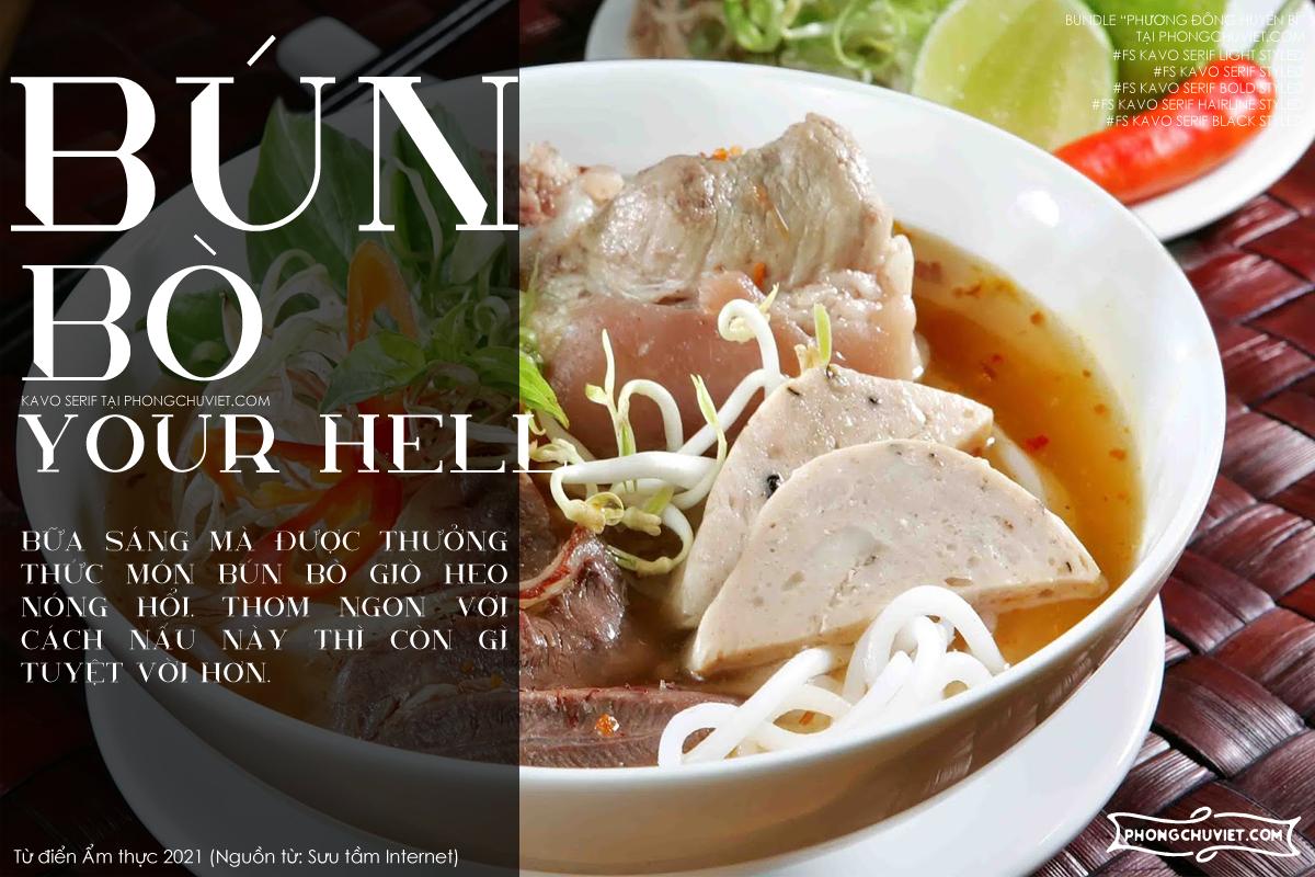 Việt hóa | FS Kavo Styled Serif: Serif hiện đại độc đáo