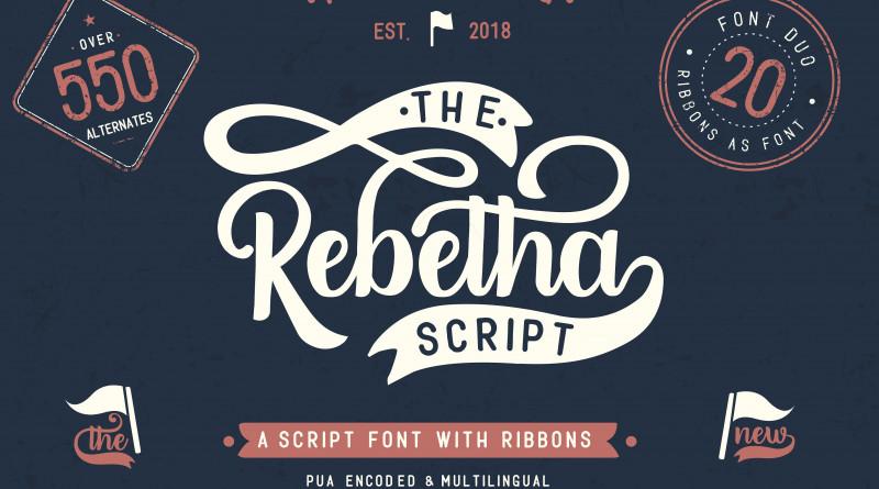 BlackCatsMedia | Rebetha Font DUO and extras (3 fonts) ~ $10
