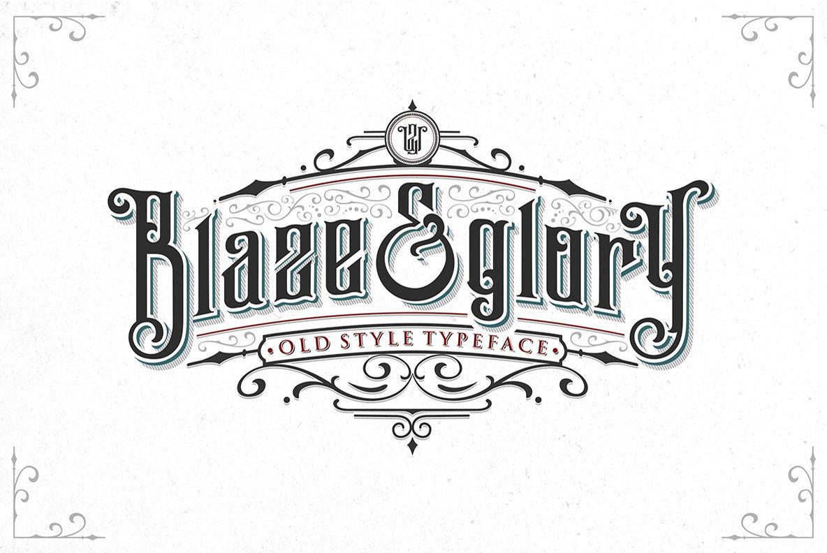 YouWorkForThem | Blaze & Glory (4 fonts) ~ $28.5