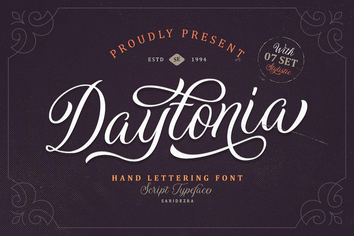 Sarid Ezra | Daytonia - Hand Lettering Script (1 font) ~ $15