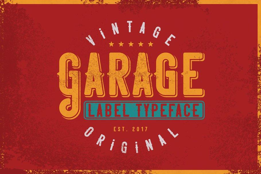 Vozzy Vintage Fonts | Garage typeface (4 fonts) ~ $10