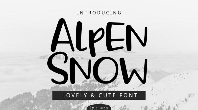 YandiDesigns | Alpen Snow Font (1 font) ~ $10
