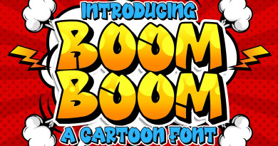 Blankids Studio | Boom Boom Cartoon Font (2 fonts) ~ $24