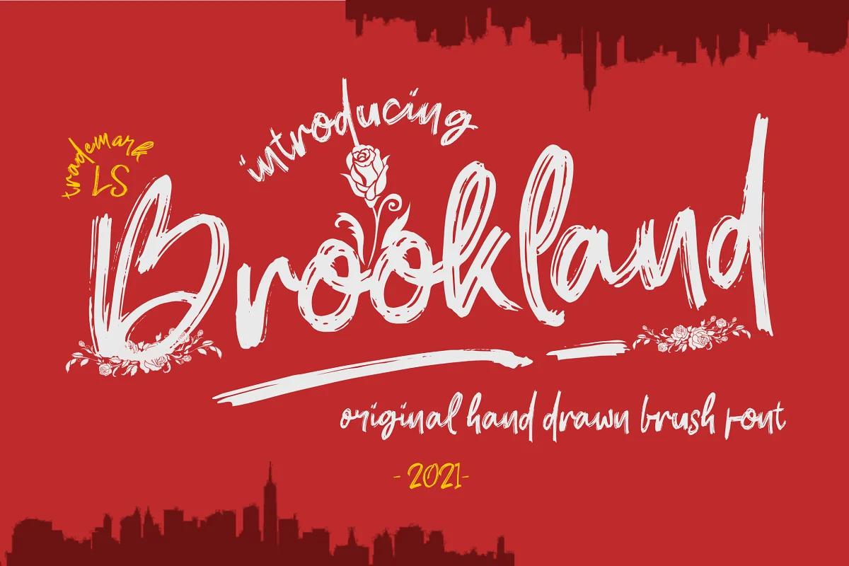 LetterStock   Brookland (1 font) ~ $17