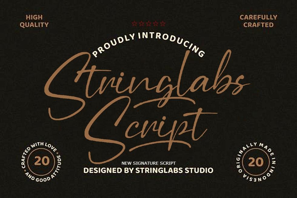 StringLabs | Stringlabs Script - Handwritten Font (1 font) ~ $25