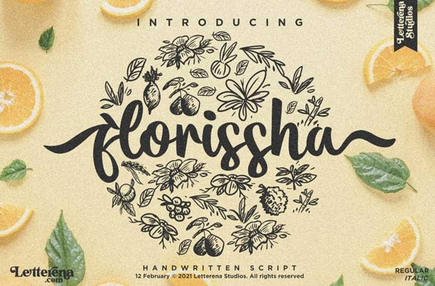 Letterena Studios | Flourissha (2 fonts) ~ $12
