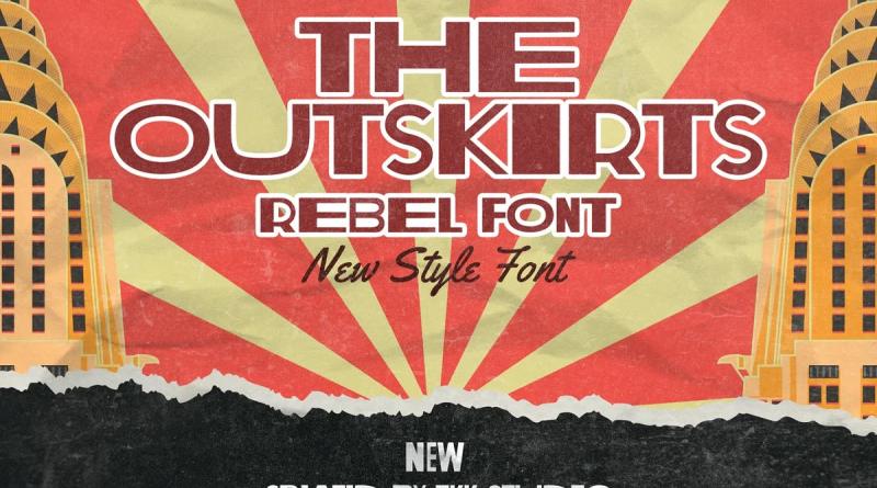 tokokoo | The Outskirts – Rebel Font (1 font) ~ $14