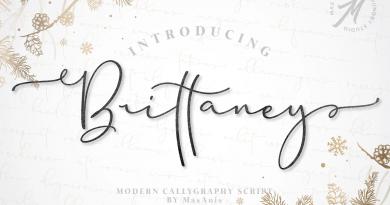 Masanis | Brittaney // Modern Calligraphy Font (1 font) ~ $17
