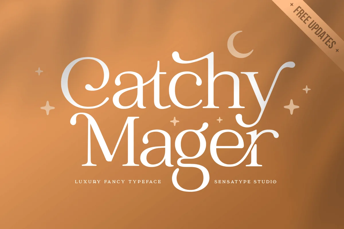Sensatype | Catchy Mager - Fancy Ligature Font (1 font) ~ $15